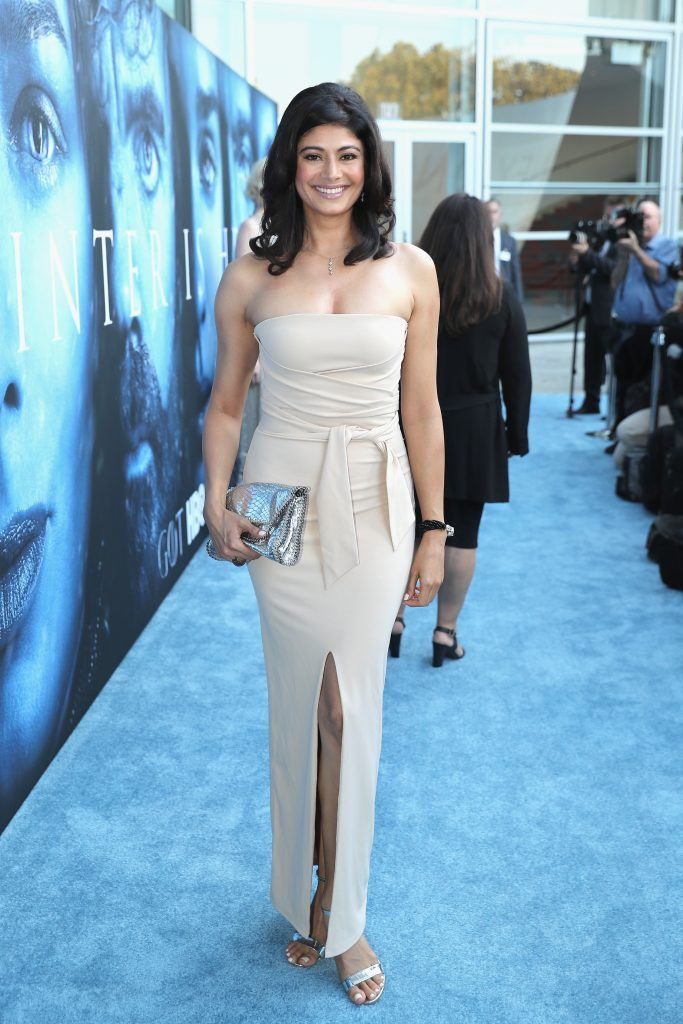 """Actress Pooja Batra attends the premiere of HBO's """"Game Of Thrones"""" season 7 at Walt Disney Concert Hall on July 12, 2017 in Los Angeles, California.  (Photo by Neilson Barnard/Getty Images)"""