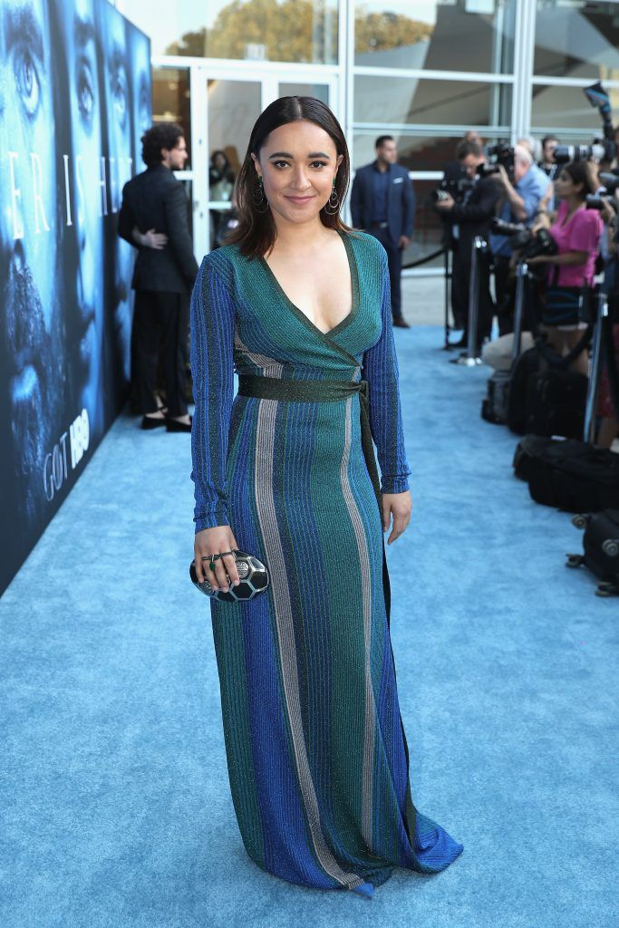 """Keisha Castle-Hughes attends the premiere of HBO's """"Game Of Thrones"""" season 7 at Walt Disney Concert Hall on July 12, 2017 in Los Angeles, California.  (Photo by Neilson Barnard/Getty Images)"""