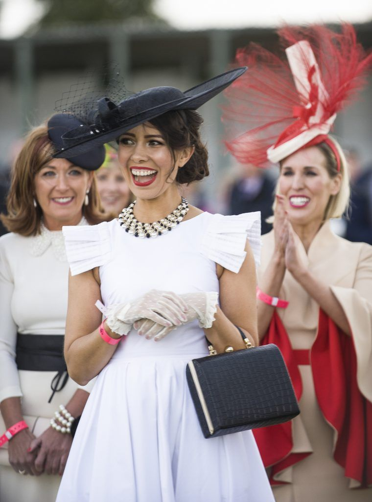 Pictured at the Best Dressed Lady competition at Kilbeggan Races 2017. It was judged by Darren Kennedy and Alison Roe and sponsored by Wineport Lodge. Photo by Paul Sherwood Photography