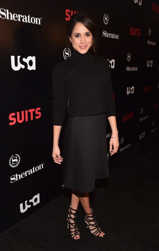 "Meghan Markle attends the premiere of USA Network's ""Suits"" Season 5 at the Sheraton Los Angeles Downtown Hotel on January 21, 2016 in Los Angeles, California.  (Photo by Alberto E. Rodriguez/Getty Images)"