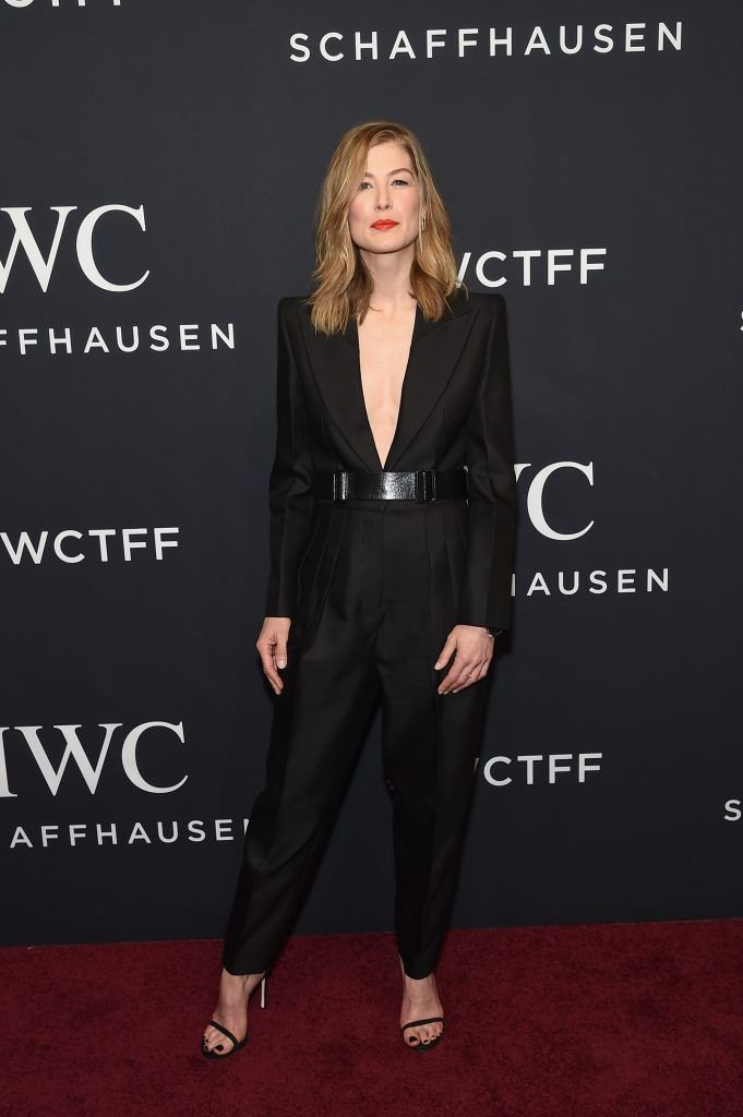 Actress Rosamund Pike attends the exclusive gala event 'For the Love of Cinema' during the Tribeca Film Festival hosted by luxury watch manufacturer IWC Schaffhausen on April 20, 2017 in New York City.  (Photo by Jamie McCarthy/Getty Images for IWC)