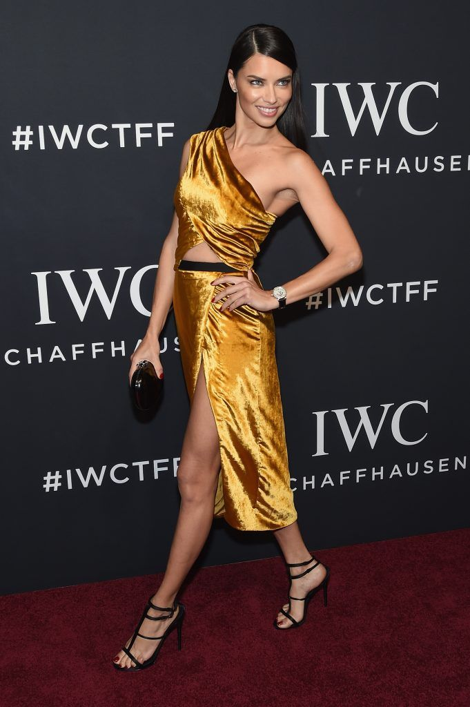 Model Adriana Lima attends the exclusive gala event 'For the Love of Cinema' during the Tribeca Film Festival hosted by luxury watch manufacturer IWC Schaffhausen on April 20, 2017 in New York City.  (Photo by Jamie McCarthy/Getty Images for IWC)