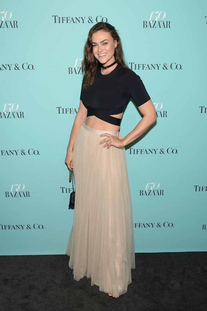 Model Myla Dalbesio attends Harper's BAZAAR 150th Anniversary Event presented with Tiffany & Co at The Rainbow Room on April 19, 2017 in New York City.  (Photo by Andrew Toth/Getty Images for Harper's BAZAAR)