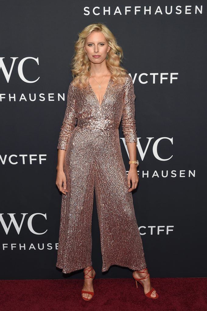 Model Karolina Kurkova and CEO of IWC Schaffhausen Christoph Grainger-Herr attend the exclusive gala event 'For the Love of Cinema' during the Tribeca Film Festival hosted by luxury watch manufacturer IWC Schaffhausen on April 20, 2017 in New York City.  (Photo by Jamie McCarthy/Getty Images for IWC)