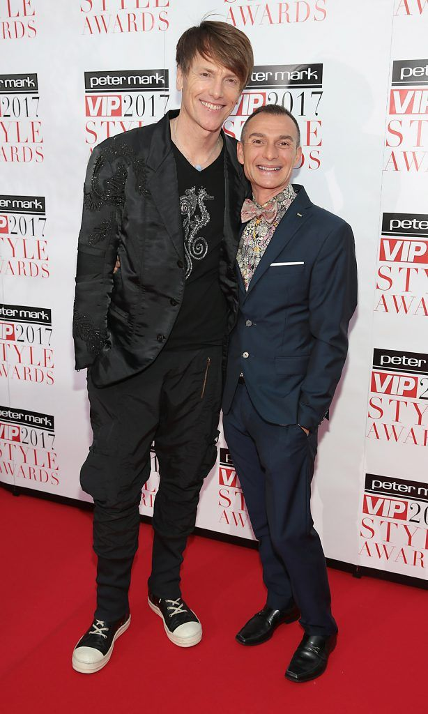 Don O Neill and Pascal Guillermie at the Peter Mark VIP Style Awards 2017 at The Marker Hotel, Dublin. Picture by Brian McEvoy.