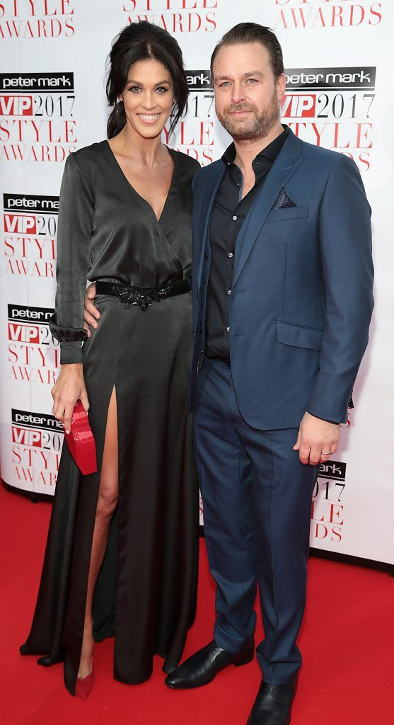Glenda Gilson and Rob McNaughton at the Peter Mark VIP Style Awards 2017 at The Marker Hotel, Dublin. Picture by Brian McEvoy.