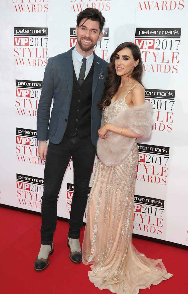 Eoghan McDermott and Aoife Melia at the Peter Mark VIP Style Awards 2017 at The Marker Hotel, Dublin. Picture by Brian McEvoy.