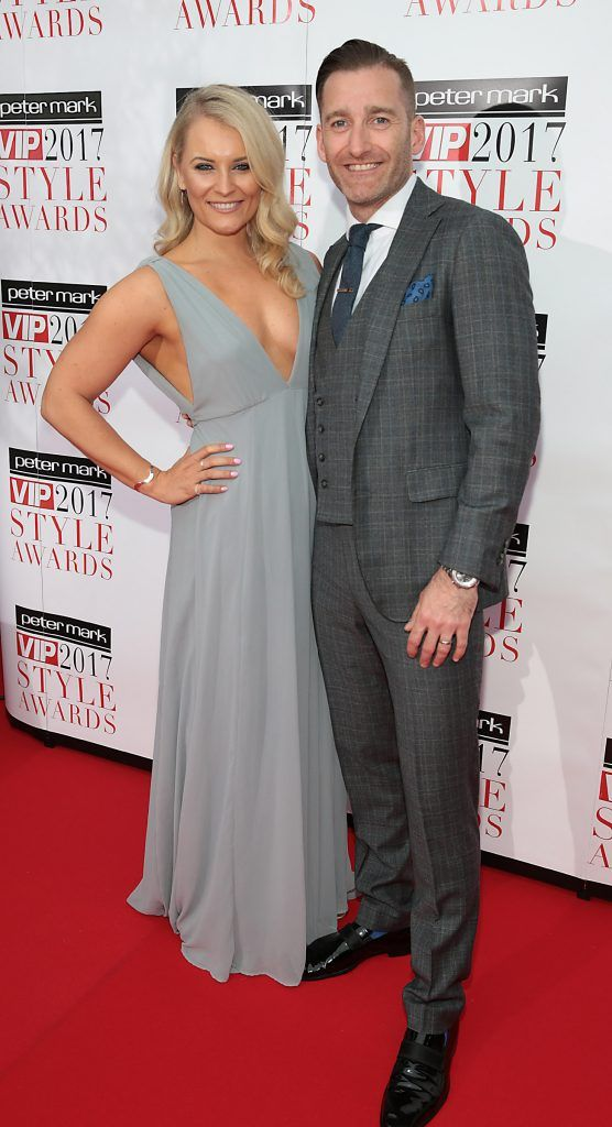 Dominique Byrom and Paul Byrom at the Peter Mark VIP Style Awards 2017 at The Marker Hotel, Dublin. Picture by Brian McEvoy.