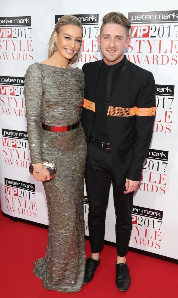 Blathnaid Treacy and Stephen Byrne at the Peter Mark VIP Style Awards 2017 at The Marker Hotel, Dublin. Picture by Brian McEvoy.