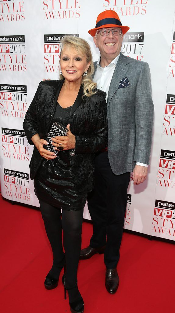 Adele King and Rory Cowan at the Peter Mark VIP Style Awards 2017 at The Marker Hotel, Dublin. Picture by Brian McEvoy.