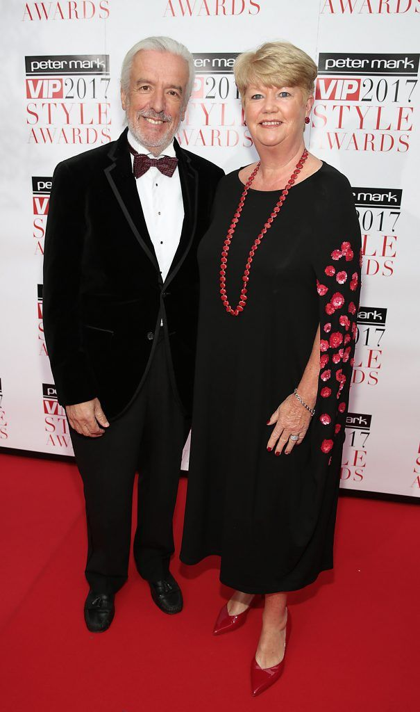 Terry McCoy and Miriam Ahern  at the Peter Mark Vip Style Awards 2017 at The Marker Hotel,Dublin. Picture:Brian McEvoy