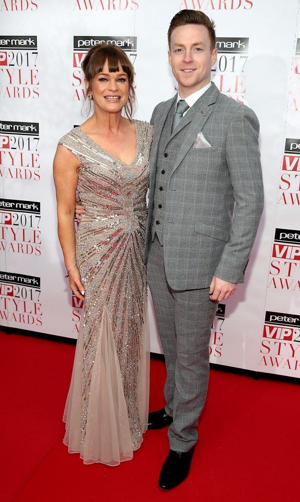 Teresa Mannion and John Nolan at the Peter Mark Vip Style Awards 2017 at The Marker Hotel,Dublin. Picture:Brian McEvoy