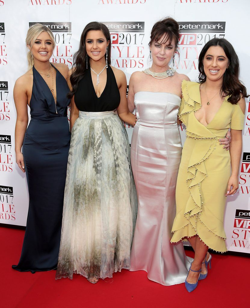 Bonnie Ryan, Babette Ryan, Morah Ryan and Lottie Ryan at the Peter Mark VIP Style Awards 2017 at The Marker Hotel, Dublin. Picture by Brian McEvoy.