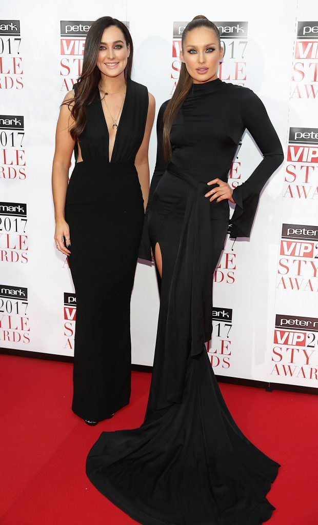 Rachel Purcell and Roz Purcell at the Peter Mark VIP Style Awards 2017 at The Marker Hotel, Dublin. Picture by Brian McEvoy.