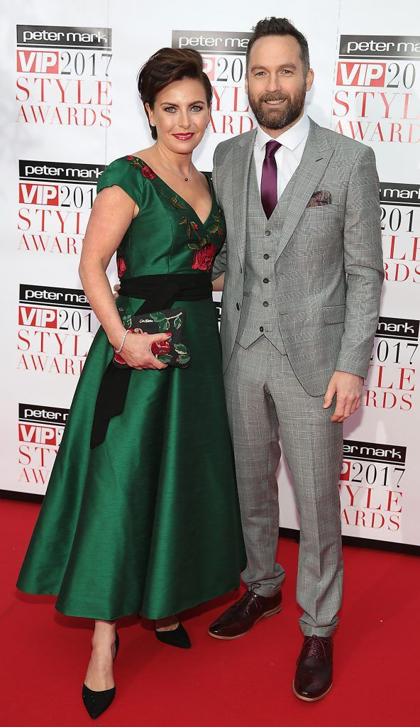 Keith Walsh and Suzanne Walsh at the Peter Mark VIP Style Awards 2017 at The Marker Hotel, Dublin. Picture by Brian McEvoy.