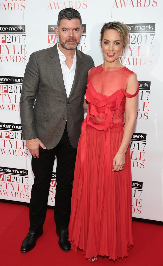 Padraig McLoughlin and Kathryn Thomas at the Peter Mark VIP Style Awards 2017 at The Marker Hotel, Dublin. Picture by Brian McEvoy.