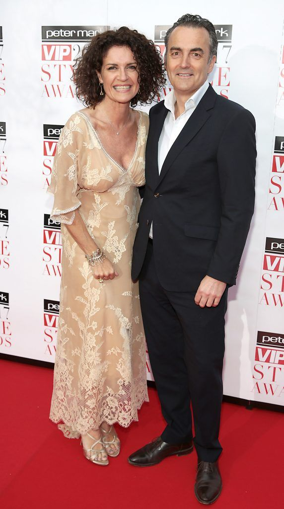 Helen Cody and Rory Murphy at the Peter Mark VIP Style Awards 2017 at The Marker Hotel, Dublin. Picture by Brian McEvoy.