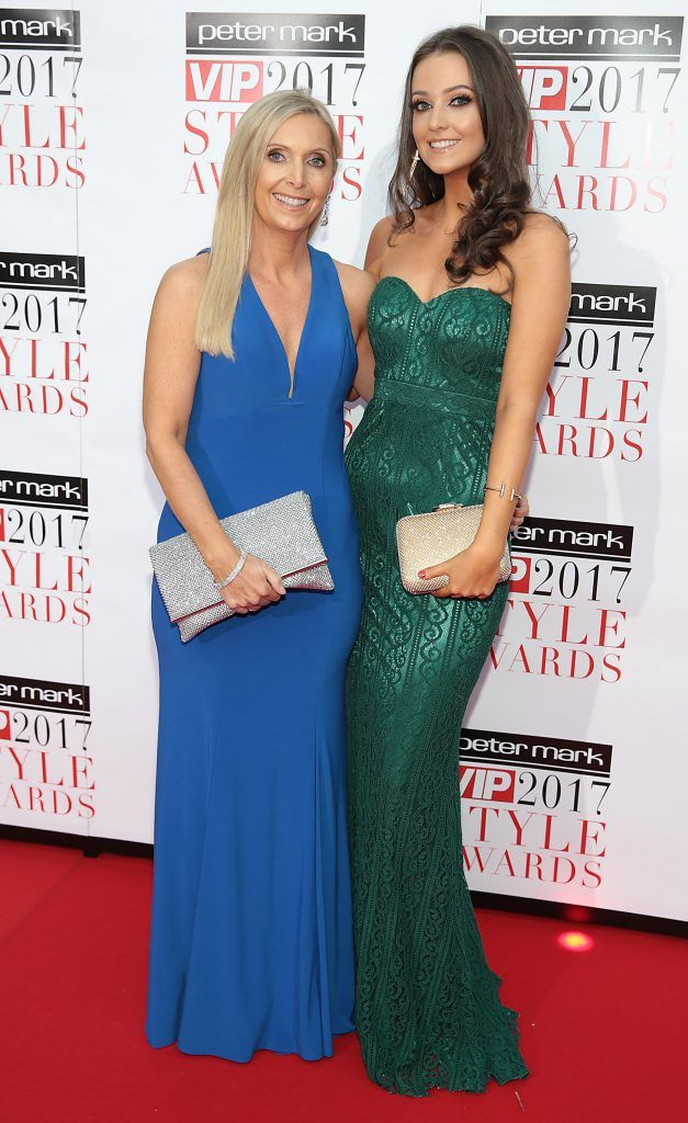 Karen McEvoy and Emma McEvoy at the Peter Mark VIP Style Awards 2017 at The Marker Hotel, Dublin. Picture by Brian McEvoy.