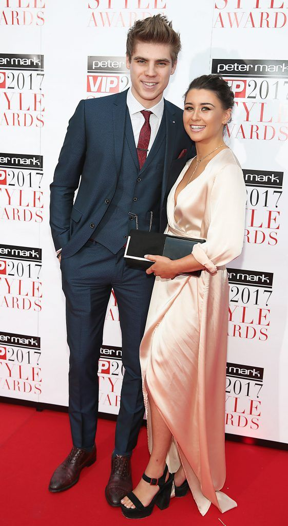 Jay Duffy and Alexandra McKay at the Peter Mark VIP Style Awards 2017 at The Marker Hotel, Dublin. Picture by Brian McEvoy.