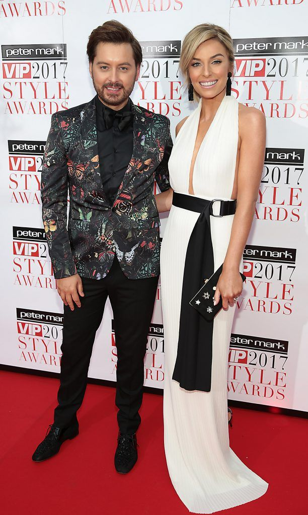 Brian Dowling and Pippa O Connor at the Peter Mark VIP Style Awards 2017 at The Marker Hotel, Dublin. Picture by Brian McEvoy.