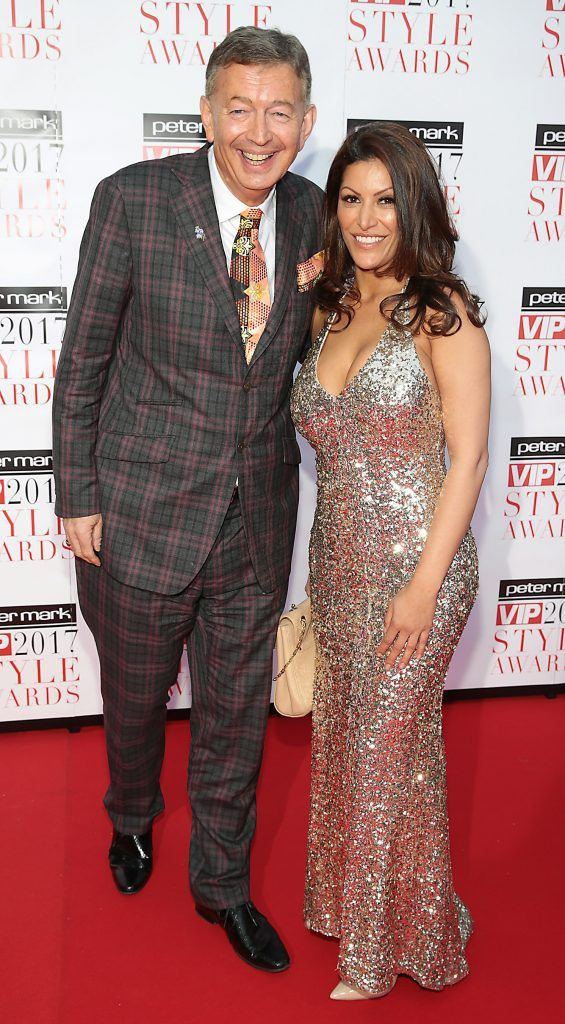Gerald Keane and Sonya Valadi at the Peter Mark VIP Style Awards 2017 at The Marker Hotel, Dublin. Picture by Brian McEvoy.