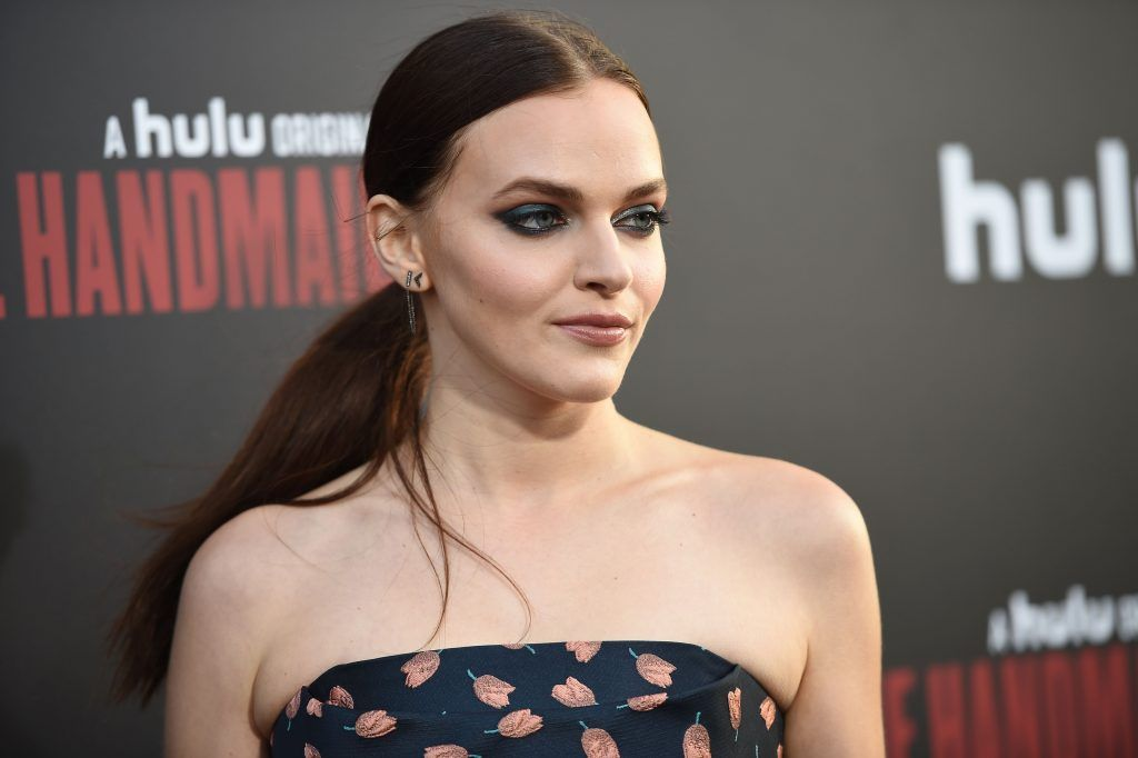 """Actress Madeline Brewer attends the Los Angeles premiere of Hulus """"The Handmaids Tale,"""" April 25, 2017 at the ArcLight Dome in Hollywood, California. (Photo by ROBYN BECK/AFP/Getty Images)"""