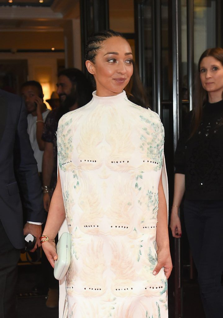 NEW YORK, NY - MAY 01:  Ruth Negga leaves from The Mark Hotel for the 2017 'Rei Kawakubo/Comme des Garçons: Art of the In-Between' Met Gala on May 1, 2017 in New York City.  (Photo by Ben Gabbe/Getty Images for The Mark Hotel)