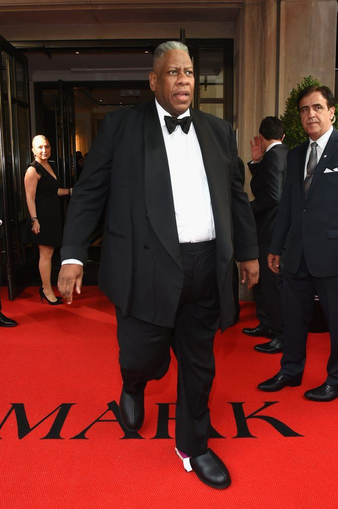 NEW YORK, NY - MAY 01:  Andre Leon Talley leaves from The Mark Hotel for the 2017 'Rei Kawakubo/Comme des Garçons: Art of the In-Between' Met Gala on May 1, 2017 in New York City.  (Photo by Ben Gabbe/Getty Images for The Mark Hotel)