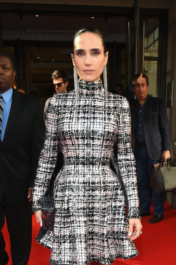 NEW YORK, NY - MAY 01:  Actress Jennifer Connelly leaves from The Mark Hotel for the 2017 'Rei Kawakubo/Comme des Garçons: Art of the In-Between' Met Gala on May 1, 2017 in New York City.  (Photo by Ben Gabbe/Getty Images for The Mark Hotel)