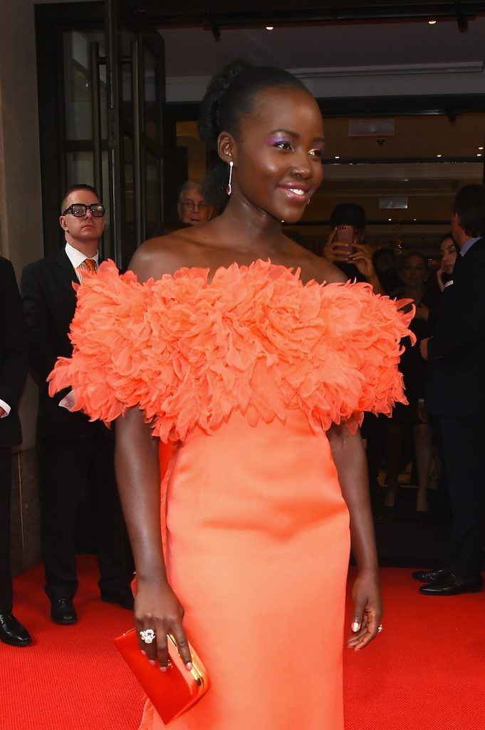 NEW YORK, NY - MAY 01:  Lupita Nyong'o leaves from The Mark Hotel for the 2017 'Rei Kawakubo/Comme des Garçons: Art of the In-Between' Met Gala on May 1, 2017 in New York City.  (Photo by Ben Gabbe/Getty Images for The Mark Hotel)