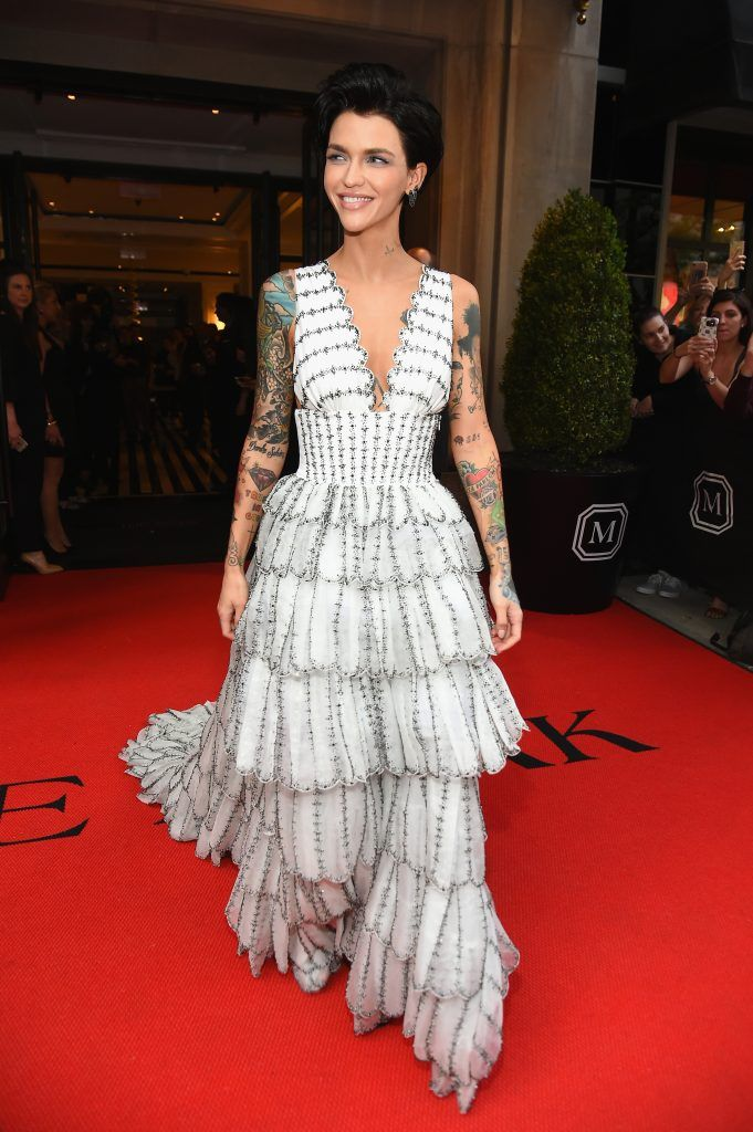 NEW YORK, NY - MAY 01:  Ruby Rose leaves from The Mark Hotel for the 2017 'Rei Kawakubo/Comme des Garçons: Art of the In-Between' Met Gala on May 1, 2017 in New York City.  (Photo by Ben Gabbe/Getty Images for The Mark Hotel)