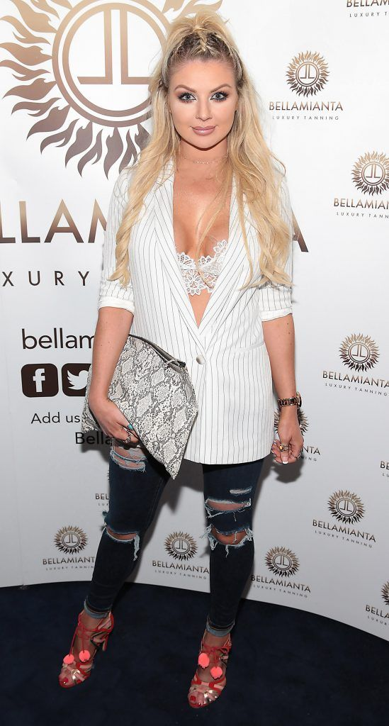 Rachel Wallace pictured at the Bellamianta Tan summer launch party at Number 22 South Anne Street, Dublin. Picture: Brian McEvoy