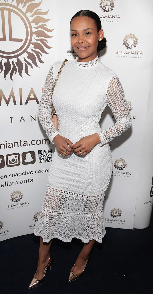 Samantha Mumba pictured at the Bellamianta Tan summer launch party at Number 22 South Anne Street, Dublin. Picture: Brian McEvoy