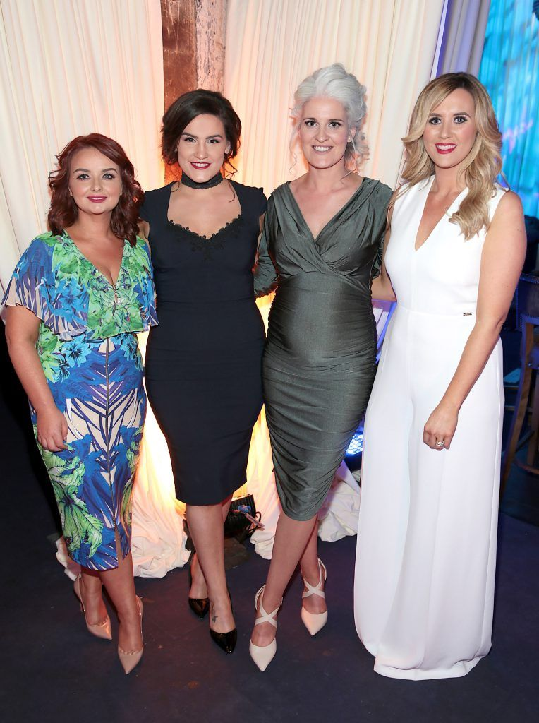 Linda Stinson, Katie O Connor, Jane Buckley  and Lisa McDermott pictured at the Bellamianta Tan summer launch party at Number 22 South Anne Street, Dublin. Picture: Brian McEvoy