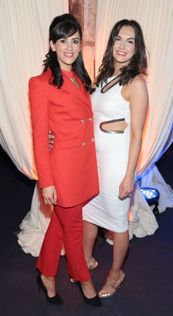Nuala McNamee and Zetta fox pictured at the Bellamianta Tan summer launch party at Number 22 South Anne Street, Dublin. Picture: Brian McEvoy