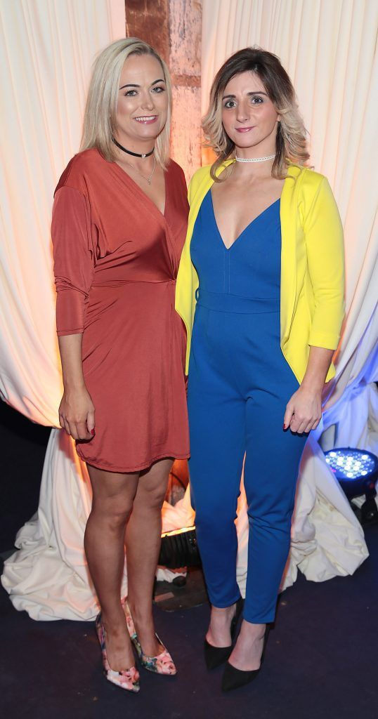 Charlene McCaul and Evelin Hagan pictured at the Bellamianta Tan summer launch party at Number 22 South Anne Street, Dublin. Picture: Brian McEvoy