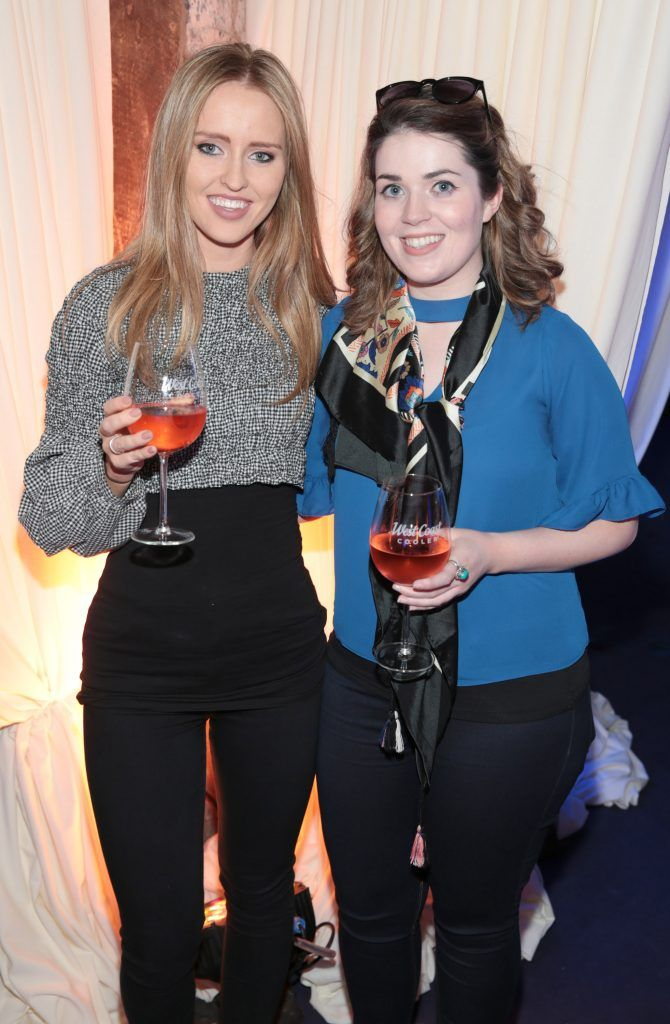 Sarah Carroll and Ciara Gaughran pictured at the Bellamianta Tan summer launch party at Number 22 South Anne Street, Dublin. Picture: Brian McEvoy