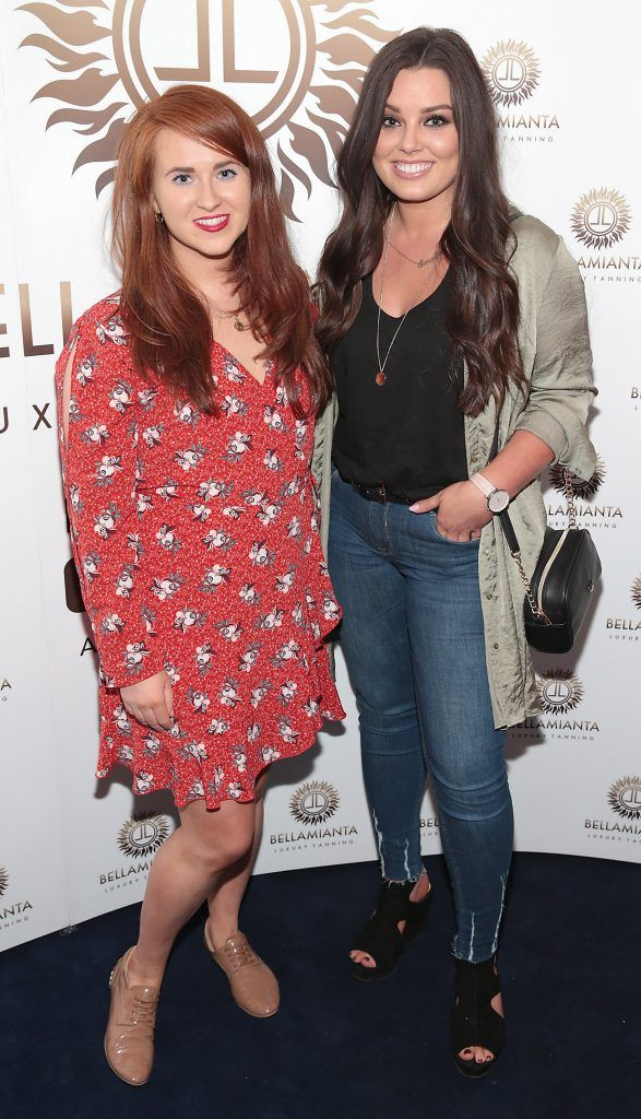 Kate Kelly and Susan Vickers pictured at the Bellamianta Tan summer launch party at Number 22 South Anne Street, Dublin. Picture: Brian McEvoy