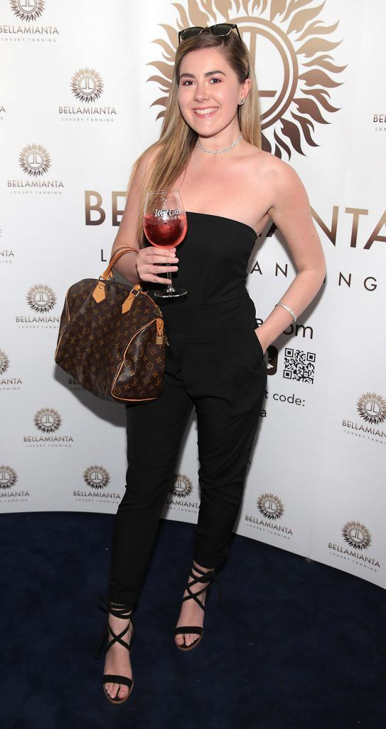 Hannah Hawkshaw pictured at the Bellamianta Tan summer launch party at Number 22 South Anne Street, Dublin. Picture: Brian McEvoy