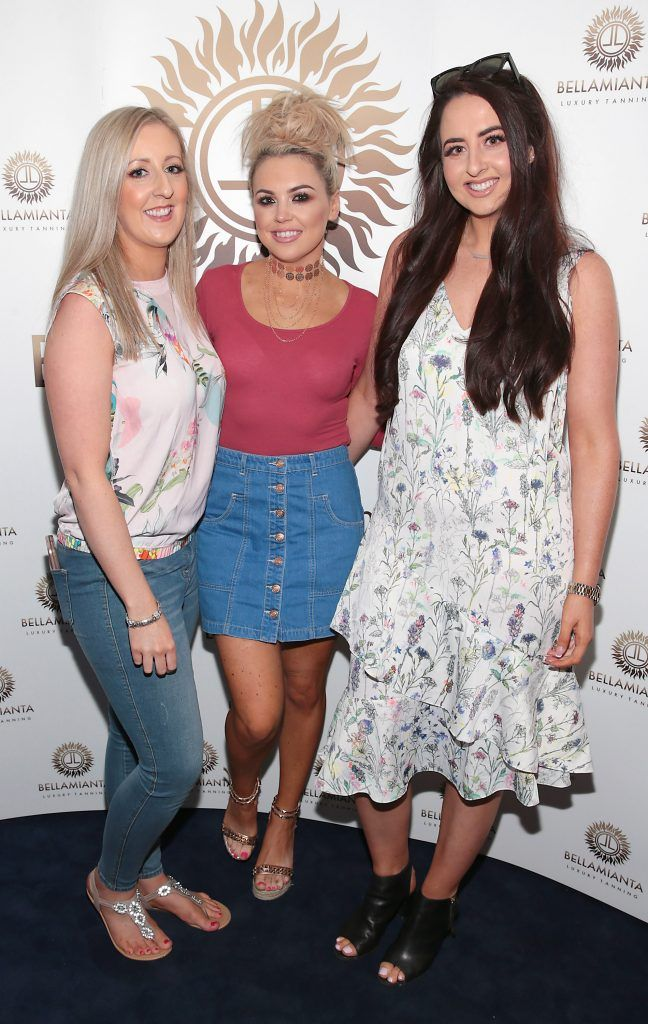 Daniella Byrnes , Julie McCabe and Cassie Colgan Bates pictured at the Bellamianta Tan summer launch party at Number 22 South Anne Street, Dublin. Picture: Brian McEvoy