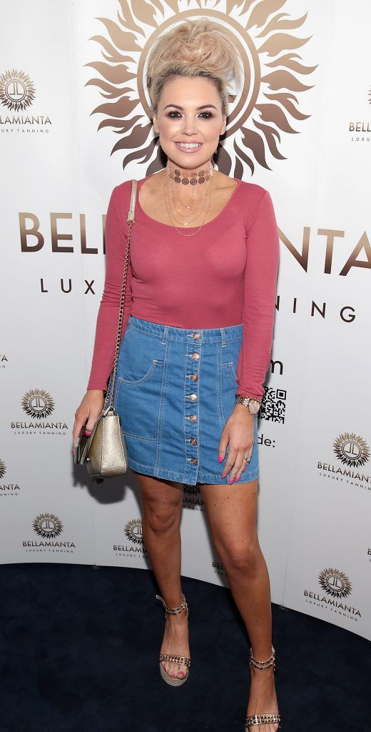 Julie McCabe pictured at the Bellamianta Tan summer launch party at Number 22 South Anne Street, Dublin. Picture: Brian McEvoy
