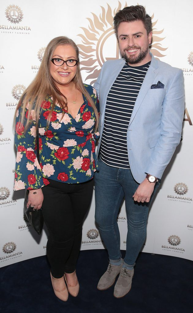 Vanessa Butler and James Butler pictured at the Bellamianta Tan summer launch party at Number 22 South Anne Street, Dublin. Picture: Brian McEvoy