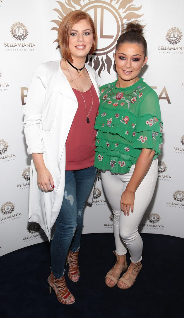 Lena Wrenn and Pauline Wrenn pictured at the Bellamianta Tan summer launch party at Number 22 South Anne Street, Dublin. Picture: Brian McEvoy