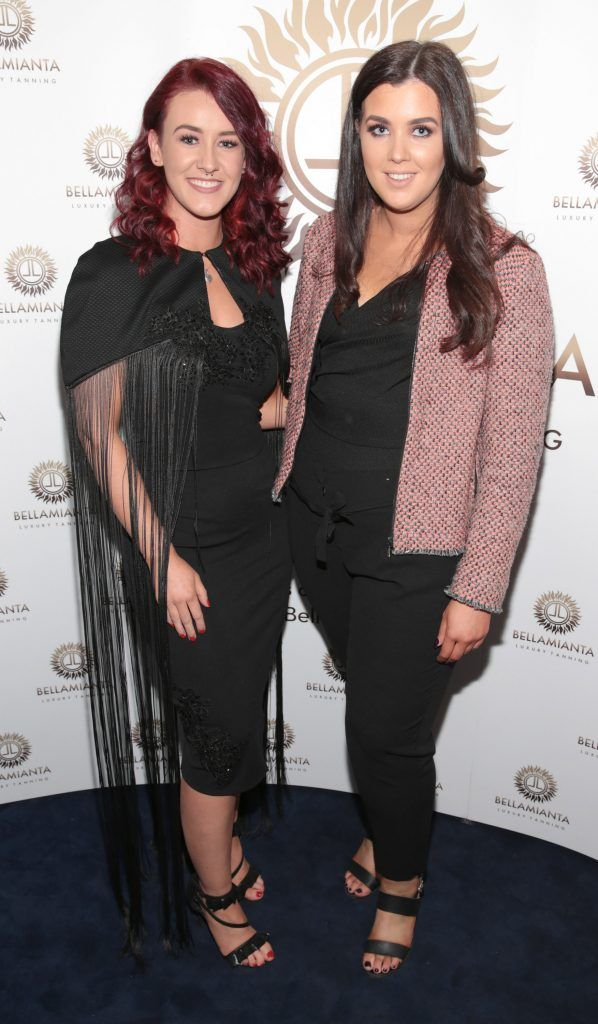 Chloe Dougan and Shannon Duke pictured at the Bellamianta Tan summer launch party at Number 22 South Anne Street, Dublin. Picture: Brian McEvoy
