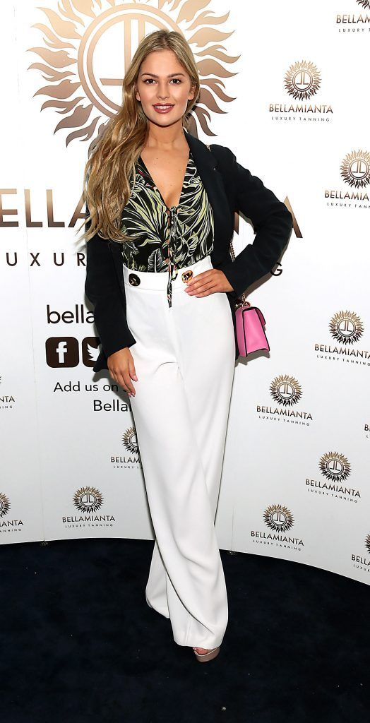 Natalia Petric pictured at the Bellamianta Tan summer launch party at Number 22 South Anne Street, Dublin. Picture: Brian McEvoy