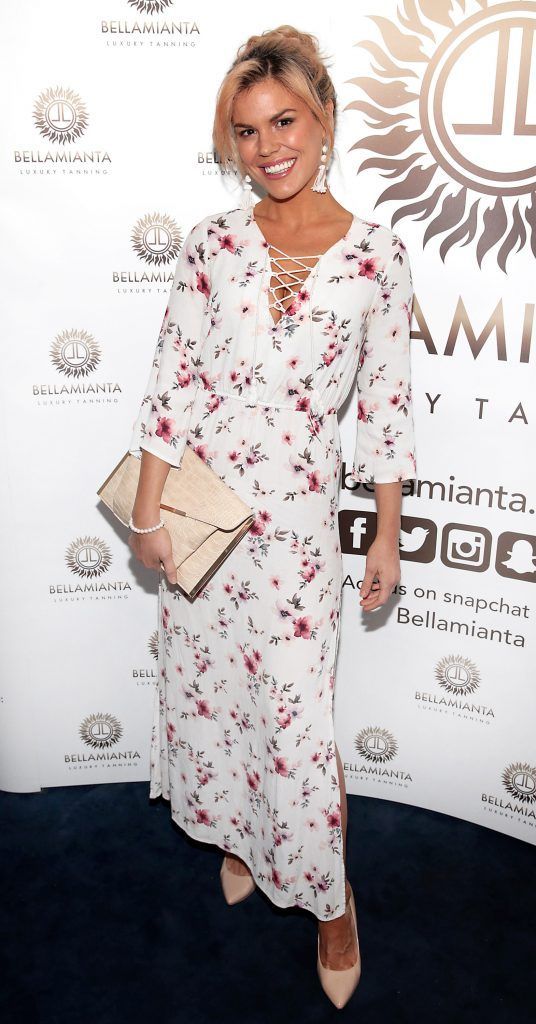 Roz Lipsett pictured at the Bellamianta Tan summer launch party at Number 22 South Anne Street, Dublin. Picture: Brian McEvoy