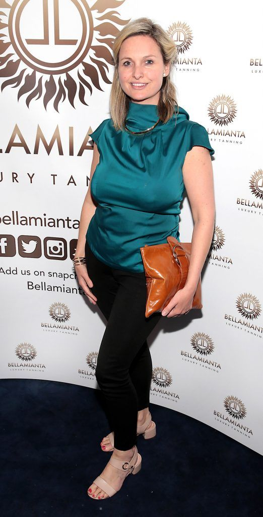 Siobhan O'Connor  pictured at the Bellamianta Tan summer launch party at Number 22 South Anne Street, Dublin. Picture: Brian McEvoy