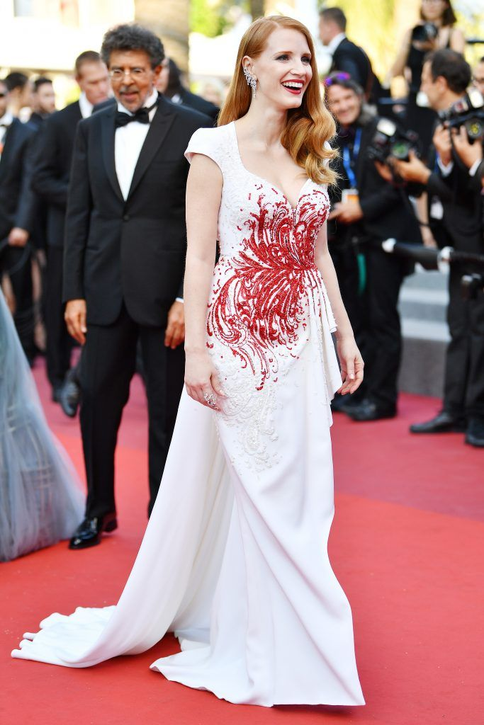 Jessica Chastain attends the Closing Ceremony during the 70th annual Cannes Film Festival at Palais des Festivals on May 28, 2017 in Cannes, France.  (Photo by Pascal Le Segretain/Getty Images)