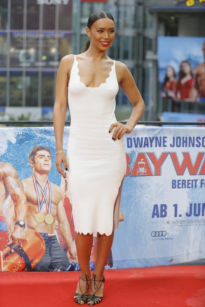 Ilfenesh Hadera poses at the 'Baywatch' Photo Call at Sony Centre on May 30, 2017 in Berlin, Germany.  (Photo by Andreas Rentz/Getty Images for Paramount Pictures)