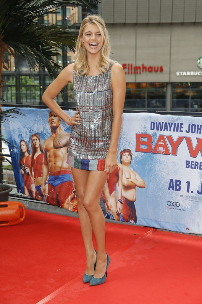 Kelly Rohrbach poses at the 'Baywatch' Photo Call at Sony Centre on May 30, 2017 in Berlin, Germany. (Photo by Andreas Rentz/Getty Images for Paramount Pictures)
